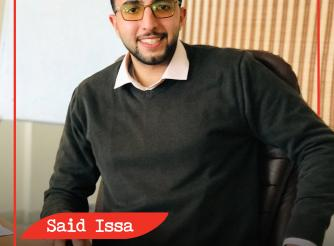 "Photo of Said Issa who is a young   participant in the project of ""COVID-19 Youth-Led Digital Engagement"" that AAP launched to leverage the use of technology to support the work of young people in holding duty bearers to account. Gaza Strip  -Palestine -Copy Rights for ActionAid Palestine 2021"
